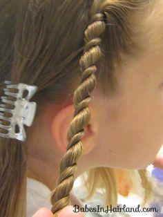 Uneven Rope/Twist Braid Style & Video - Babes In Hairland Little Girl Hairdos, Girls Hairdos, Princess Hairstyles, Teen Hairstyles, School Hairstyles, Rope Twist Braids, Toddler Braids, Diy 2019, Low Maintenance Hair