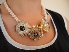 Brooch Necklace - Inspired Anthropologie Marjorelle Necklace