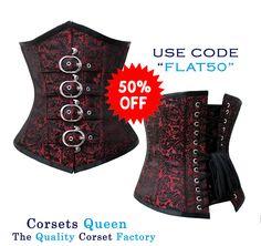 Adalee-Brocade-Underbust-Corset, underbust corset, brocade corset, lace corset, brown corset,
