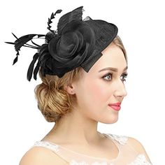 Valdler Womens Feather Mesh Net Sinamay Fascinator Hat wi... https://www.amazon.com/dp/B017QWY2QW/ref=cm_sw_r_pi_dp_x_fYLAzb130NTTD