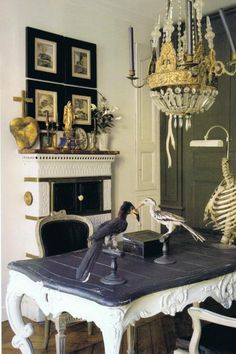 kinda love the creepy/cool ribcage lamp, at least for Halloween