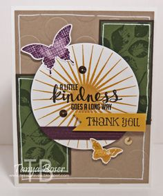 Card using Kinda Eclectic by Stampin' Up!, Bursts of Kindness