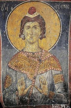 Holy Righteous Azariah Babylon, Byzantium, Greece. Elasson, the church of Panagia Olimpiotissy  XIII Century