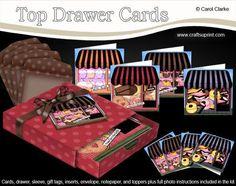 3D Top Drawer Sweet Treats Shops Notelet Cards Bumper Kit