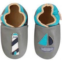Chaussons bébé cuir souple-enzo le bateau-face 400 jpeg