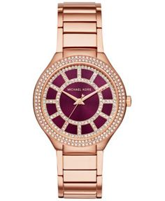 Michael Kors Women's Kerry Rose Gold-Tone Stainless Steel Bracelet Watch 37mm MK3434, Only at Macy's