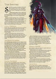 Dungeons And Dragons Races, Dungeons And Dragons Homebrew, 5e Dnd, The Spectre, Dnd Classes, Dnd 5e Homebrew, Home Brewing, Character Ideas, Character Concept