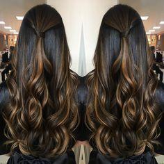 "2,135 Likes, 83 Comments - GloriaStudioliss (@gloriastudioliss) on Instagram: ""Boa noite!! Morena iluminada em tons canela e avelã, lindo hair da Marjory.... .…"""