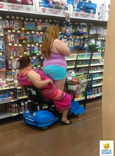 Uh... She may have came out of THAT... but I doubt if she fits back in! Only at Walmart!