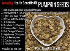 Amazing Health Benefits Of Pumpkin Seeds