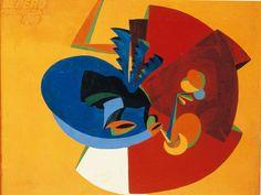 Fortunato Depero, Moviment d'ocell. 1916. Oli sobre tela, 100 x 130 cm. Rovereto: Museo d'Arte Moderna e Contemporanea di Trento e Rovereto.