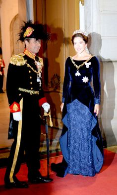 CP Frederik and CP Mary arrive at the New Year's Banquet. January 1st 2016