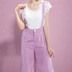 Empire, Button, Zipper, Wide Leg Pants
