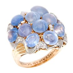 SEAMAN SCHEPPS Sapphire & Diamond Ring