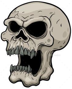 Cartoon Drawing Design Skull by SARAROOM Vector illustration of Cartoon Skull Drawing Cartoon Characters, Character Drawing, Cartoon Drawings, Skull Tattoo Design, Skull Tattoos, Zombie Tattoos, Skull Stencil, Skull Art, Skull Pictures