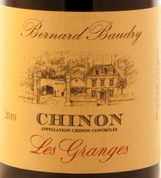Bernard Baudry Chinon Les Granges 2011 Floral with notes of lavender and tobacco on the nose, a light to medium body, fine tannins, and tangy acidity, this is a beautiful food wine.