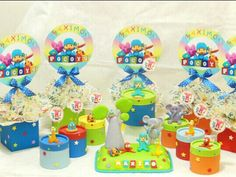 Pocoyo decorations cake, party favors, center piece