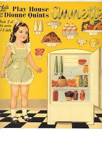 Las Recortables de Veva e Isabel: Play house Dionne Quints:Annette