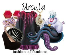 """""""Ursula"""" by fofandoms ❤ liked on Polyvore featuring Trina Turk and Disney"""