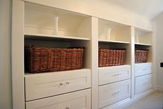 Attic Storage | attic storage | Attic renovation inspiration