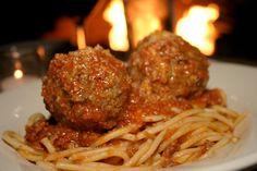 Dominick's spaghetti & meatballs (from Chef Speak)