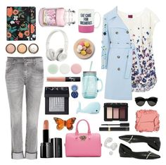 """I Am Blue"" by liska1986 ❤ liked on Polyvore featuring 7 For All Mankind, Joules, VIVETTA, Versace, ALDO, Illamasqua, RIFLE, Yankee Candle, By Terry and Beats by Dr. Dre"