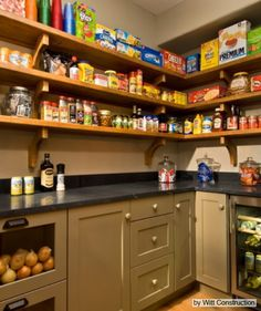 Walk in pantry with real counter-tops--space to small appliances..Love it!