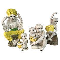 Italian Monkey Family, S/4 $995.00