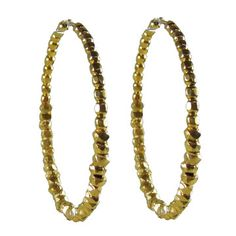 Beaded Hoops Vermeil, $79, now featured on Fab.