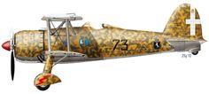 Fiat CR.42 Falco ,73 Squadron, El Adem T3, Libya, August 1940, flown by Italian ace - major Ernesto Botto