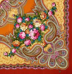 Russian shawl Love's desired time 1537-16