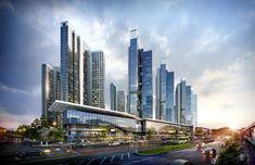 Futuristic Home, Futuristic Architecture, Amazing Architecture, Building Stairs, Tower Building, Future Buildings, Modern Buildings, Commercial Complex, Archi Design