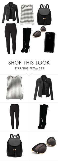 """"""""""" by glitterenergy65 ❤ liked on Polyvore featuring LE3NO, Venus, Speck and plus size clothing"""