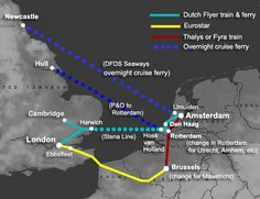 LONDON to AMSTERDAM by train & ferry or Eurostar | From £45