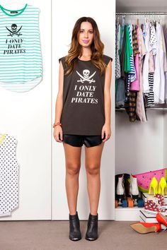 Muscle Tanks, Vintage Black, Pirates, Cool Style, Shirt Dress, Chic, How To Wear, Shirts, Shopping