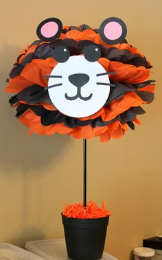 Tiger pom pom kit king of the jungle safari by TheShowerPlanner