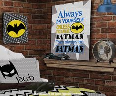 Always Be Yourself Unless You Can Be Batman Wall Art Superhero Wall Art Superhero Wall Decor Superhero Canvas Superhero Theme Room Ideas Superhero Room Decor Wall Art for Boys Wall Art Boys Room Decor Ideas Boys Theme Room Superheroes Room Superheroes Decor Comic Book Decor Comic Book Wall Art Super hero Wall Art Super hero Wall Decor Super hero Room Bedroom Superhero Bedding Boys Bedroom Ideas by OurSecretPlace