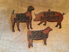 4H 4H FFA Goat Pig Swine Heifer Ornament Magnet by TheRusticBarnAZ, $4.50