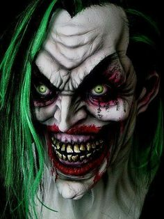 Evil Joker - as opposed to. Insane Clown, Creepy Clown, Creepy Art, Der Joker, Joker Art, Joker Batman, Dark Fantasy Art, Evil Clown Tattoos, Joker Kunst