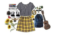 """""""lil hufflepuff"""" by starscounter394 on Polyvore featuring moda, Hollister Co., WithChic y Pier 1 Imports"""