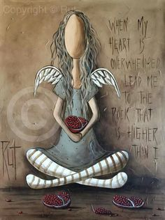 When my heart is overwhelmed lead me to the rock that higher than i Illustrations, Illustration Art, The Rok, Angel Drawing, I Believe In Angels, Angel Pictures, Angels Among Us, Arte Popular, Angel Art