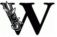 vine monogram w by jennifer wambach #68636