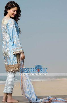 Buy Pakistani Lawn Suits 2015 Online - Crescent Lawn Available