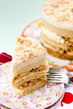 Apple pie layer cake. Actually sounds like heaven. My dad would love this.