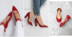 Calzado en color rojo y cómo combinarlo, ¡no te pierdas estas ideas!