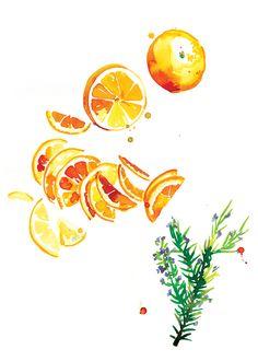 Sarah Hankinson on Behance 2016 Calendar, Behance, Watercolor, Illustration, Instagram Posts, Forget, Wedding, Inspiration, Orange
