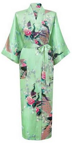Brand New Long Robe Satin Rayon Bathrobe Nightgown - Make Simple Money  Yukata Kimono c9cea856f