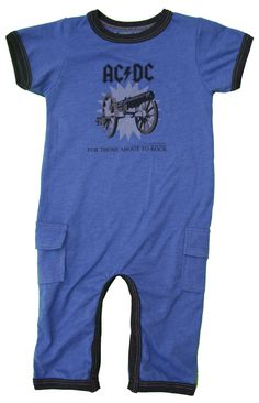 Rowdy Sprout AC/DC Romper