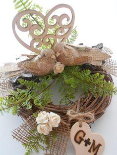 Rustic Wedding Cake Toppers | Rustic Wedding Cake Topper / Woodland Wedding Cake by YesMoreFunk, $43 ...