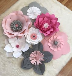 1243 best paper flowers images on pinterest in 2018 paper flowers paper flower backdropnurdery decorcustomize your order mightylinksfo